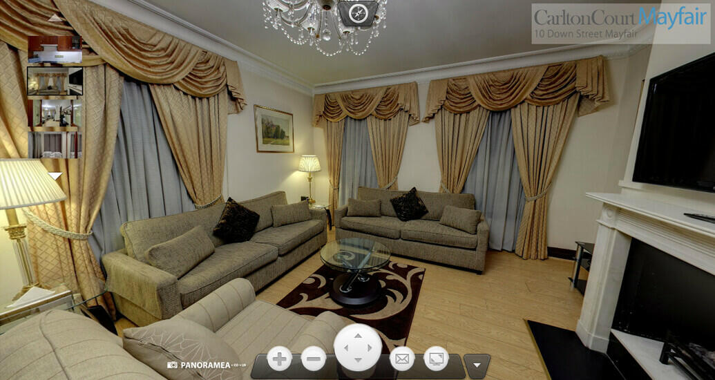 Panoramic tour of 2 bedroom apartment in Mayfair